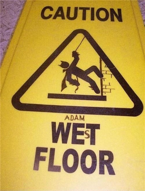 Adam West,wet floor,batman