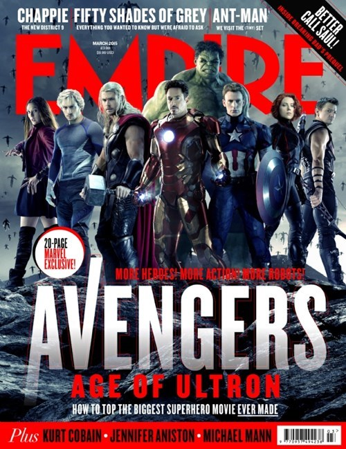 age of ultron The Avengers cover