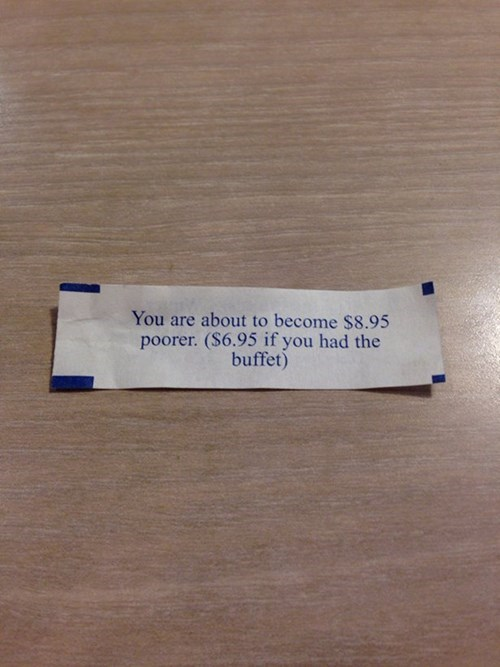 fortune cookie,monday thru friday,restaurant