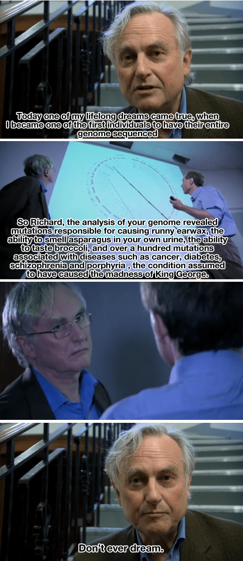 richard dawkins has his genome mapped