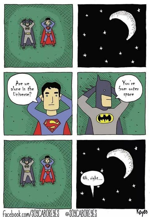 batman,space,superman,web comics
