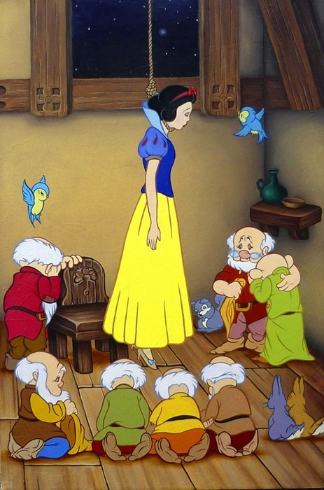 snow white hanged