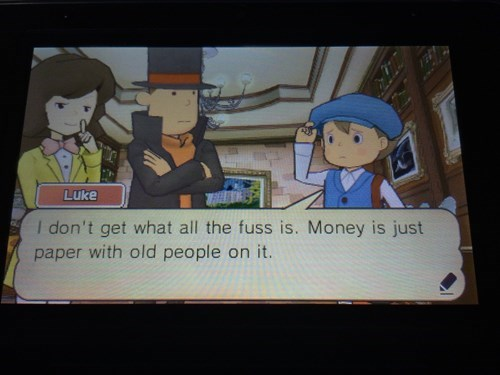 quotes,professor layton,video games,money