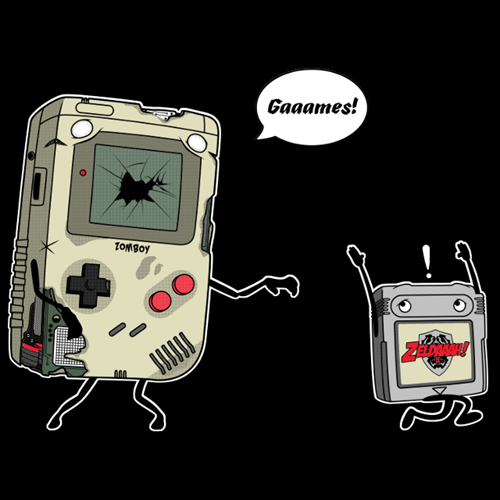 tshirts zombie video games gameboy - 8436012544