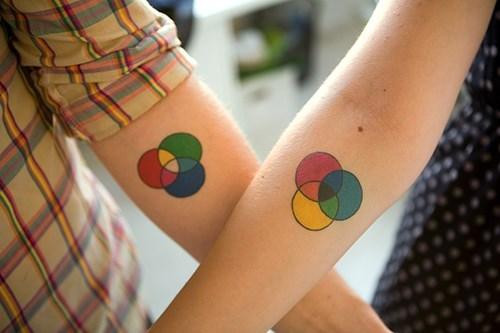 color wheel tattoos