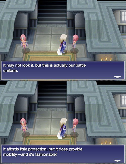 final fantasy armor video game logic