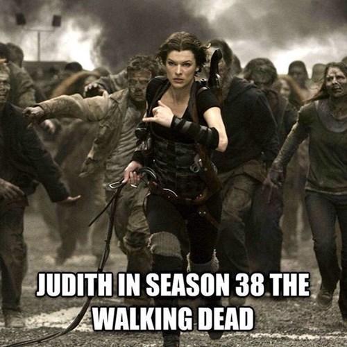 milla jovovich resident evil The Walking Dead - 8436044800