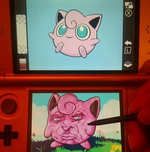 drawing,jigglypuff,Pokémon,nintendo 3ds