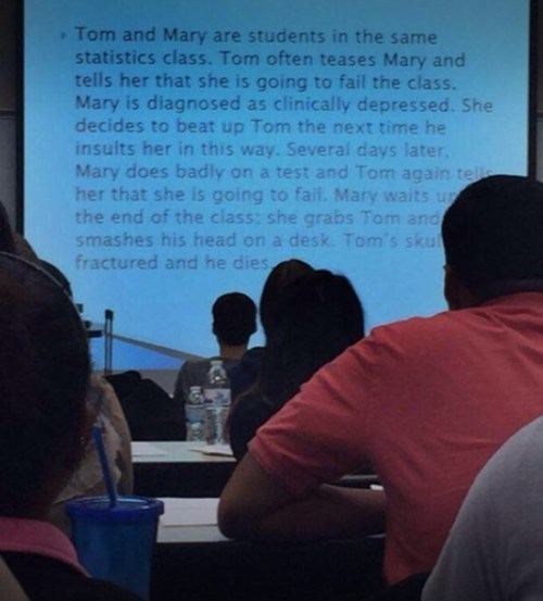 tom and mary in statistics class
