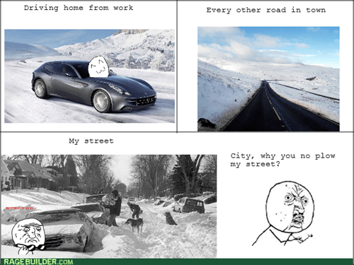 Y U NO snow driving - 8436333824