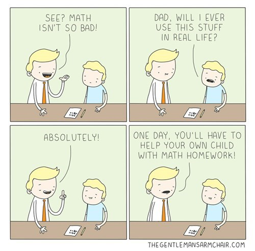 homework kids parenting math web comics - 8436363520