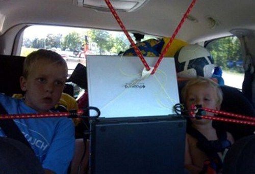 kids,bungee cords,driving,parenting,there I fixed it