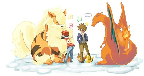 Fan Art,charizard,arcanine