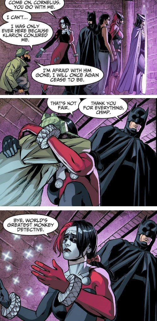 Straight off the Page chimp batman Harley Quinn - 8436422400