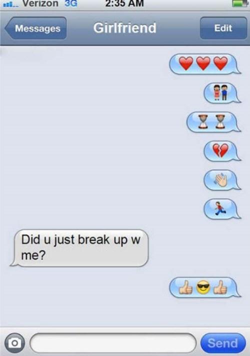 Text - 2:35 AM al Verizon 3G Girlfriend Edit Messages Did u just break up w me? Send