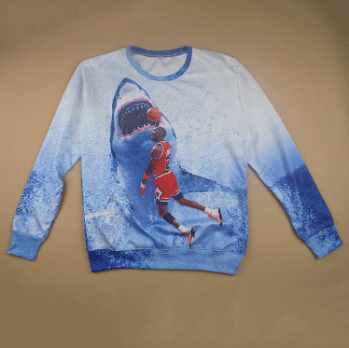 jaws michael jordan poorly dressed sweatshirt shark basketball - 8436453888