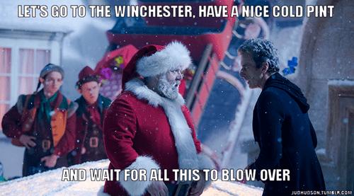 Shaun Of the dead 12th Doctor santa claus