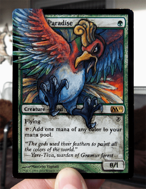 ho-oh,Pokémon,magic the gathering,birds of paradise
