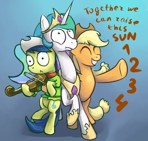 applejack,raise this barn,princess celestia