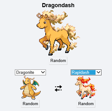 Pokémon,pokemon fusion,dragonite,rapidash