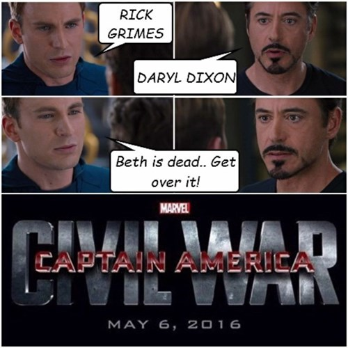 marvel civil war The Walking Dead - 8436588288