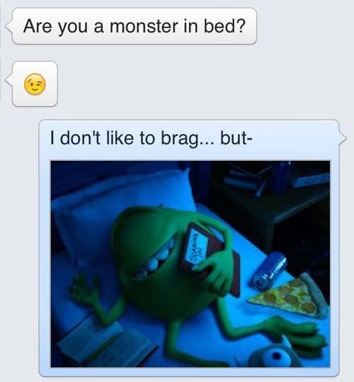 monsters inc,texting,sexting