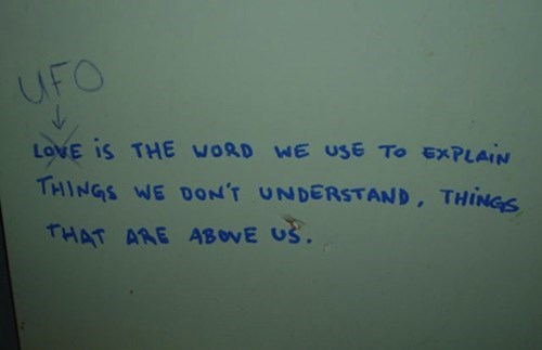 Bathroom Graffiti wisdom graffiti hacked irl love - 8436619776