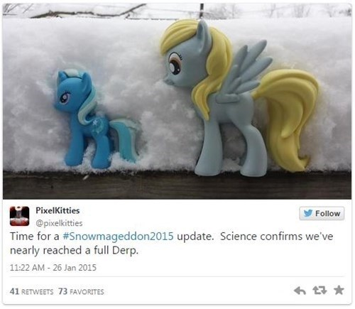 derpy hooves snow - 8436940800