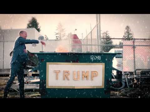 Video The 'Trumpster' Fire Is Here to Keep You Warm for the Holidays