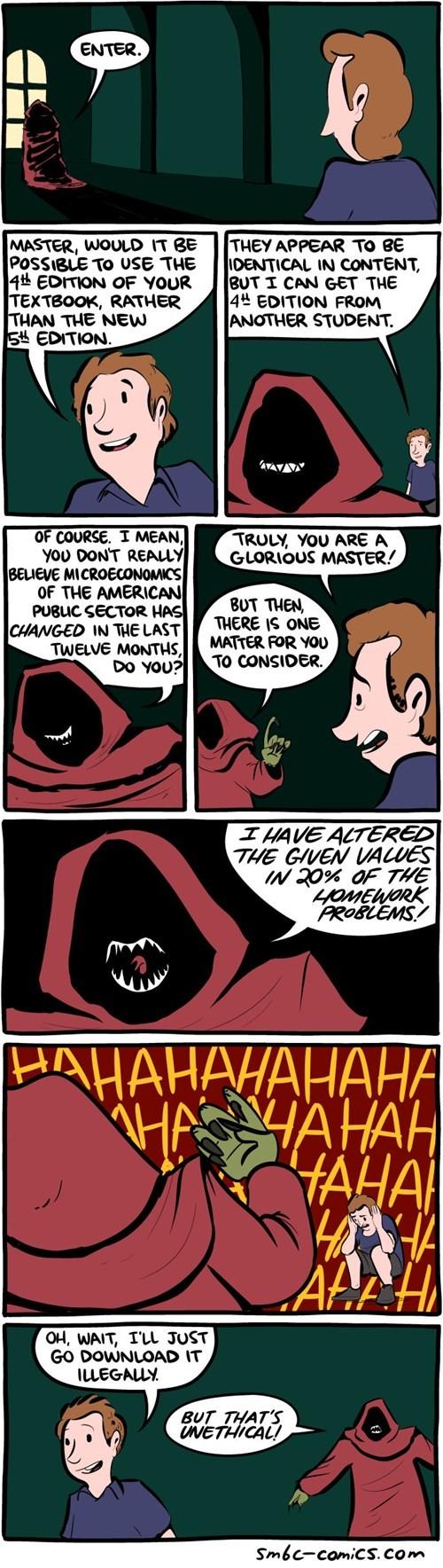 ethics school textbook web comics