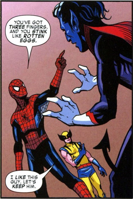 nightcrawler,xmen,Spider-Man