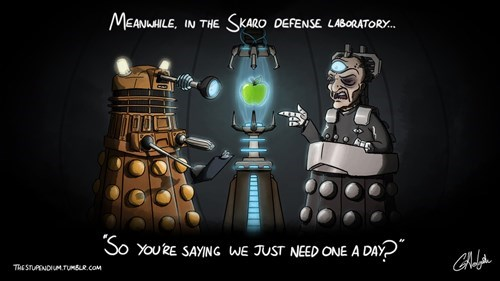 daleks Davros apple a day - 8437246720