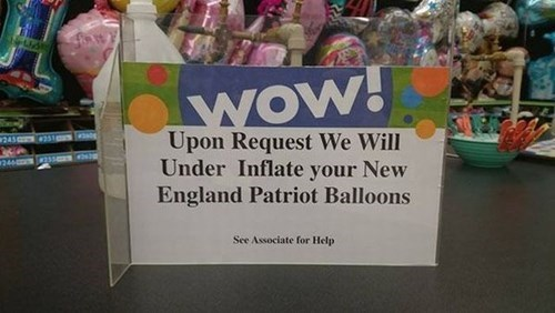 super bowl Balloons new england patriots Party deflategate - 8437474304