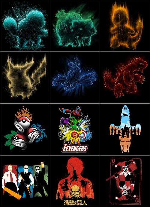 Pokémon tshirts attack on titan - 8437665280