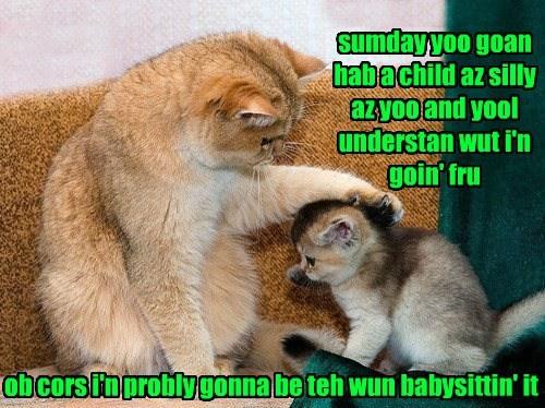child Someday babysitting silly caption - 8437736448