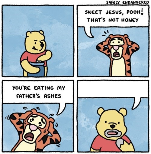 tigger,honey,ashes,winnie the pooh,web comics