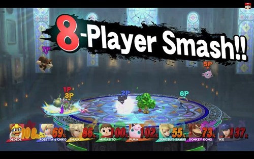 super smash bros 8 player smash update