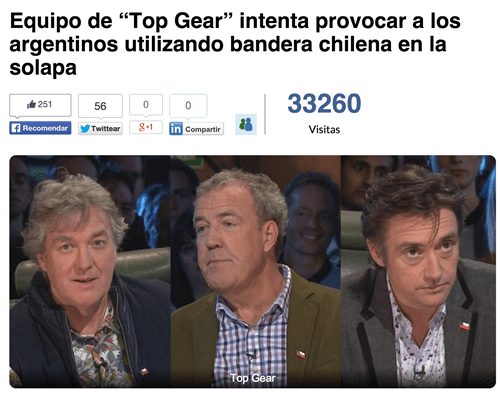 trolling Top Gear Chile Argentina