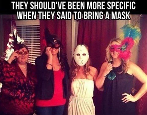 poorly dressed,mask