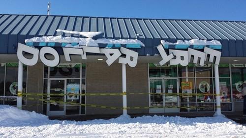 monday thru friday sign blizzard snow dollar store - 8437920256