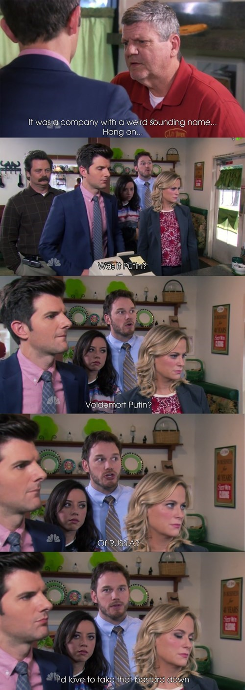 parks and recreation,andy dwyer,chris pratt,Vladimir Putin