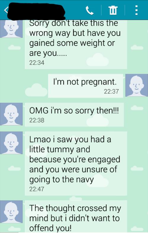 insensitive pregnancy pregnant texting - 8438044160