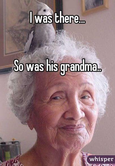Hair - lwas there.. So was his grandma. whisper