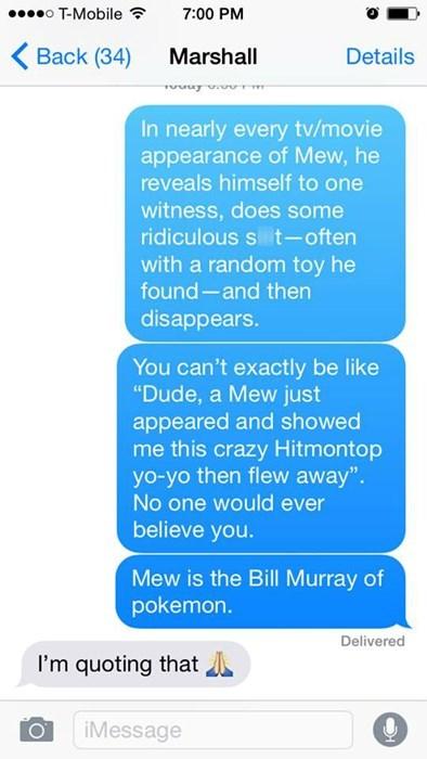 mew Pokémon bill murray anime texts - 8438083328