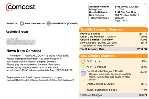 customer service comcast cable prank - 8438095360