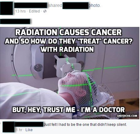 medicine conspiracy facepalm cancer science