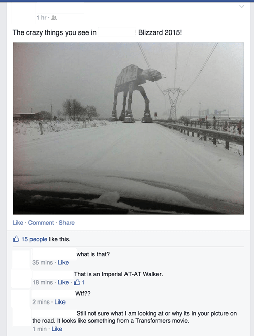 star wars Hoth fake photoshop nerdgasm at at - 8438122752