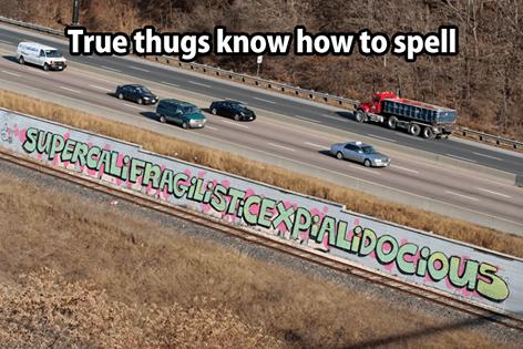 thugs,vandalism