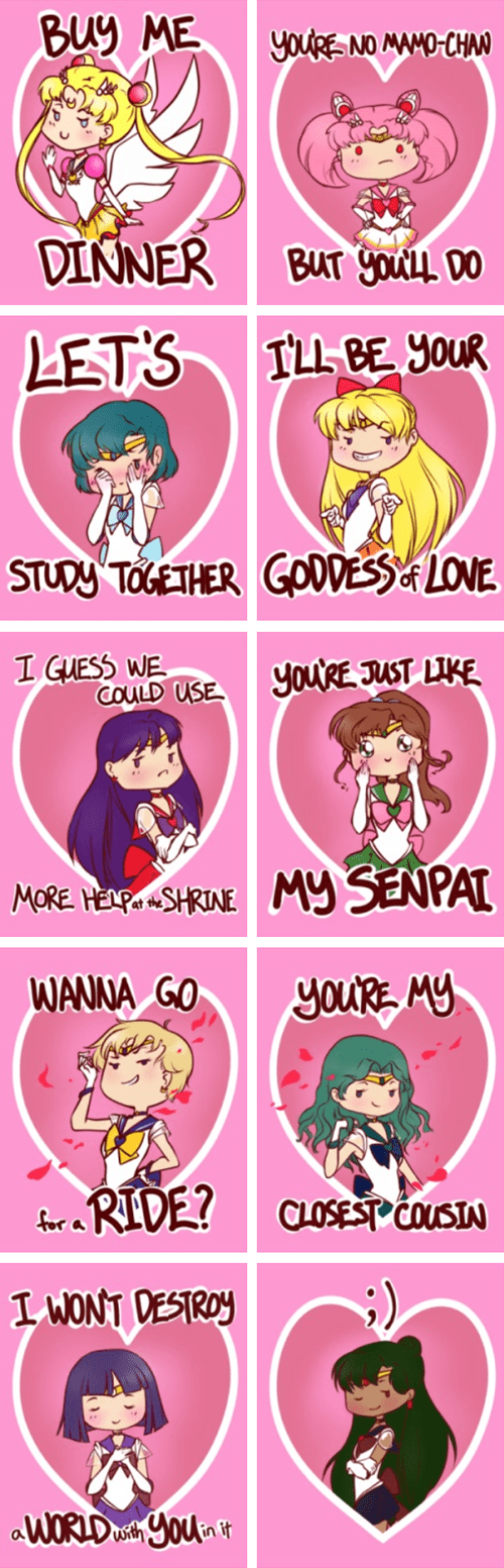 valentines anime Fan Art sailor moon - 8438417408