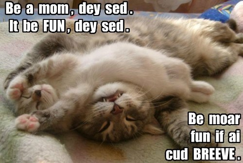 fun caption breathe mom Cats - 8438428928